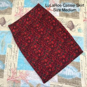 LuLaRoe Cassie Pencil Skirt Fall Floral Medium